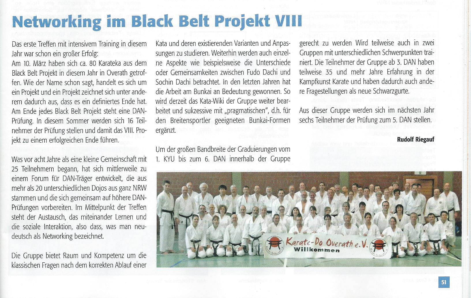 Networking im Black Belt Projekt VIII